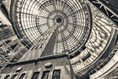 Fototapete Blick oben neben Schrot-Turm auf dem gewölbten Dach von Melbourne Cent