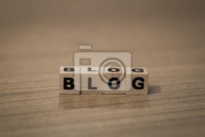 Blog in Holzwürfel