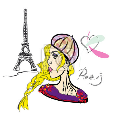 Eiffel Tower Drawing Free Clip Art On - Eiffel Tower Line Drawing - Free  Transparent PNG Clipart Images Download