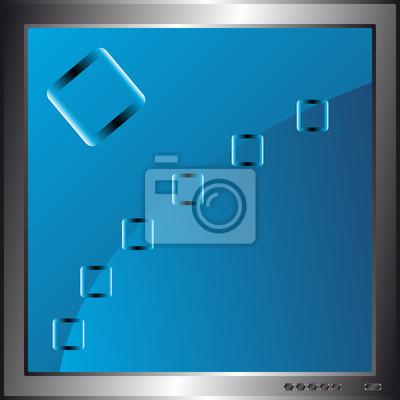 Blue Abstract Hintergrund in Monitor