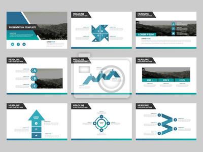 Blue Abstract Prasentation Vorlagen Infographic Elemente Vorlage Fototapete Fototapeten Keynote Fahrplan Infografik Myloview De
