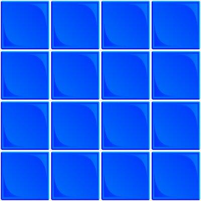 Blue Ceramic Tile Seamless Background