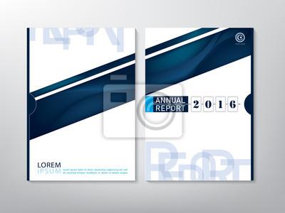 Blue green jahresbericht broschüre flyer design vorlage vektor ...