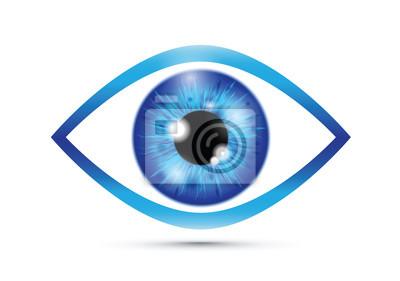 Fototapete blue Realistic eyeball