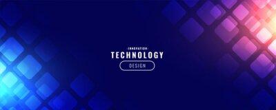 Fototapete blue technology digital banner design
