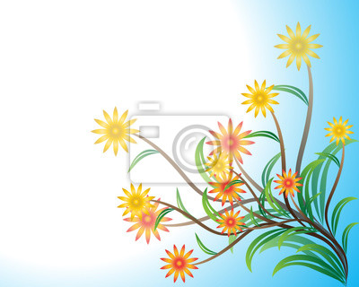 Blume auf blauem Hintergrund