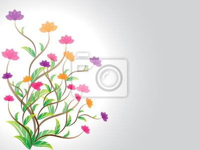 Blume auf grauem Hintergrund