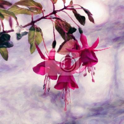 Blume / Ölgemälde-Fotoeffekt