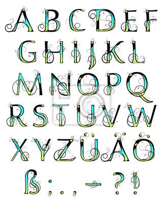 Blumen-Alphabet