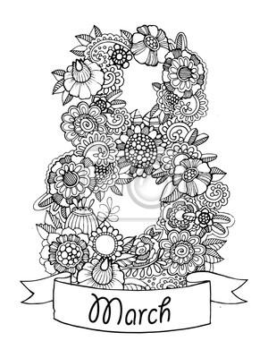 Blumen Design Vektor-Illustration für Kalender