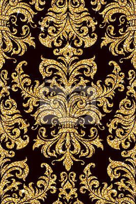 blumen goldene tapete 400 65833546 - Goldene Tapete