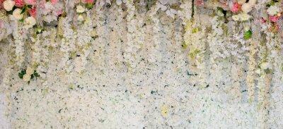 Fototapete Blumen Hintergrund. Hintergrund Hochzeitsdekoration. Rosenmuster. Wandblume, bunter Hintergrund, frische Rose