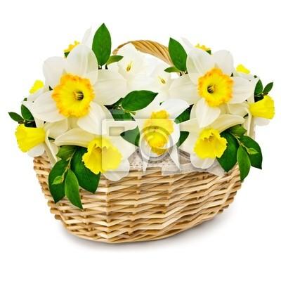 Blumen im Weidenkorb