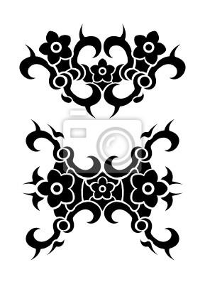 blumen tribal tattoo