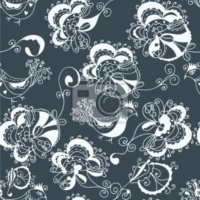 Blumen verzierten traditionellen nahtlose Muster