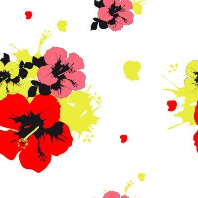 Fototapete Blumenentwurf