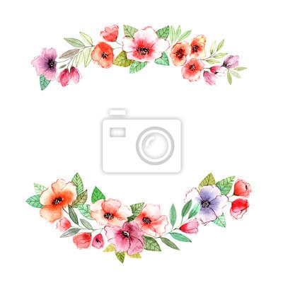 Blumenkranz Einladung Hochzeit Oder Geburtstagskarte Floral