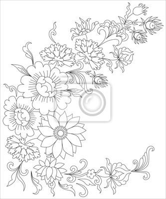 Blumenstrauss Ausmalbilder Fur Erwachsene Fototapete Fototapeten