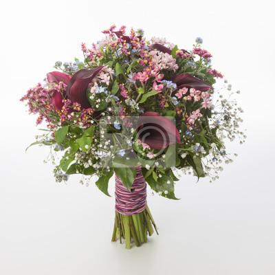 Berühmt Blumenstrauß mit callas fototapete • fototapeten gypsophila &JB_54
