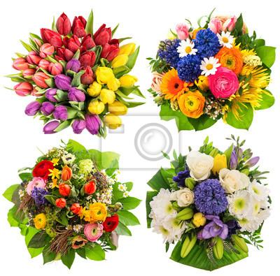 Blumenstrausse Geburtstag Hochzeit Muttertag Ostern Fototapete