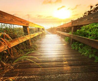 Fototapete Boardwalk am Strand