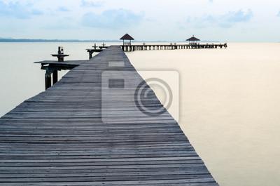 Boardwalk am Strand
