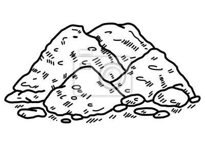 Boden Cartoon Vektor Und Illustration Schwarz Und Weiss Hand