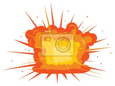 Boden explosion vektor-symbol fototapete • fototapeten Feuerball ...