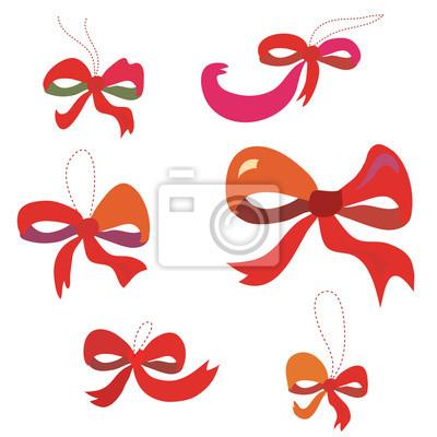 Bögen in roten Farben eingestellt lustige Design
