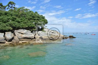Fototapete Bois De La Chaize Strand Von Dames Ile Noirmoutier Vendee