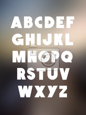 Bold Alphabet Schriftart. Vector Alphabet