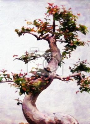 Bonsais, Baum / Ölgemälde-Fotoeffekt