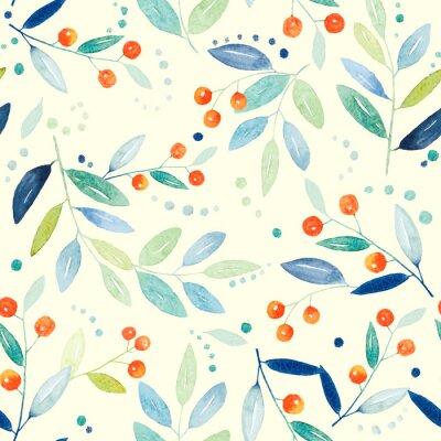 Fototapete Botanische nahtlose Muster