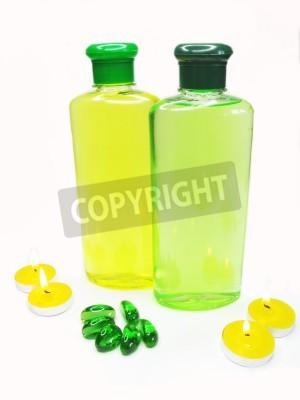 Bottles Of Shampoo And Shower Gel Amond Candles Decorative Pebble New Decorative Plastic Bottles For Shower