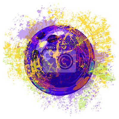 Bowling Ball Alle Elemente sind in separaten Ebenen und gruppierte.