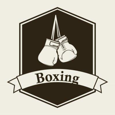 Fototapete Box-Emblem