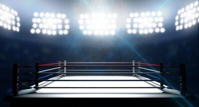 Fototapete Boxring in Arena