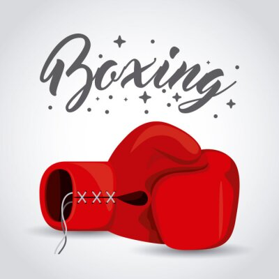 Fototapete Boxsport-Sportentwurf