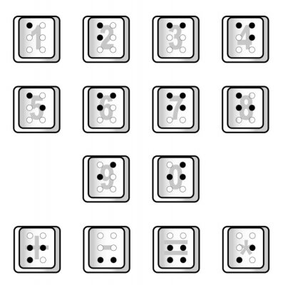 Braille Computer Key Numbers