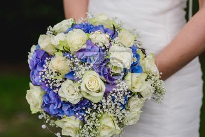 Braut Blumenstrauss Hochzeit Blumen Ringe Fototapete Fototapeten