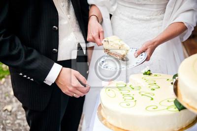 Brautpaar Und Hochzeitstorte Fototapete Fototapeten Ehering