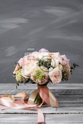 Fototapete Brautstrauss Hochzeit Schoner Strauss Weisser Rosa Bluten Und