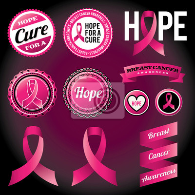 Breast Cancer Awareness Ribbons und Abzeichen