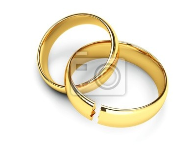 Brechen Goldene Hochzeit Ringe Fototapete Fototapeten Bruch Fur