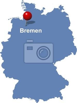 Bremen Auf Der Deutschlandkarte Fototapete Fototapeten Nordsee