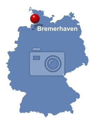 Bremerhaven Auf Der Deutschlandkarte Fototapete Fototapeten