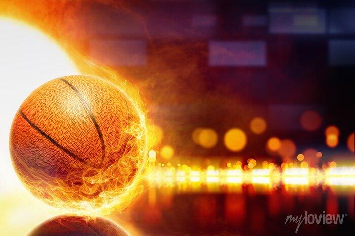 Fototapete Brennender Basketball