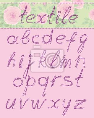 Briefe, textil