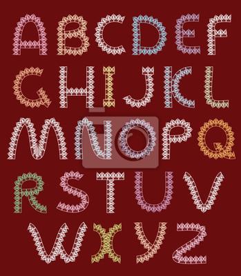 Briefe von Spitzen, Alphabet