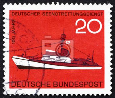 Briefmarke Deutschland 1965 Rettungsschiff Fototapete Fototapeten